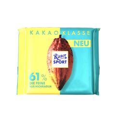rittersport瑞特斯波德牛奶61%74%浓醇黑进口巧克力