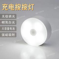 TCL多功能护眼台灯宿舍卧室床头灯免布线可移动usb触摸充电小夜灯
