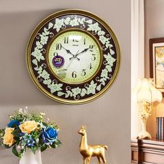 客厅挂钟 现代简约免打孔 家用 北欧电子钟大气墙壁时钟丽盛钟表