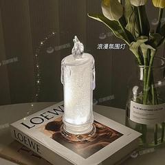 仿真蜡烛气氛夜灯Ins小摆件可爱的小饰品礼物少女心幸福感小物件