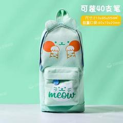 大容量铅笔袋 韩国ins少女心笔袋简约小清新初中学生用帆布文具盒