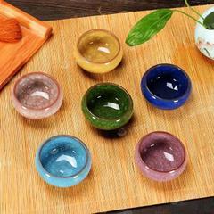陶瓷紫砂8色品茗杯个人杯套装小茶杯家用茶具礼盒装
