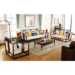 YD 新中式客厅家具 沙发A6301、 长茶几E6336