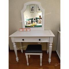 进口美国红橡木梳妆台+凳 自提免运费